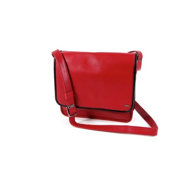 5a007ce2e84 Berba Leren overslag tas schoudertas rood Zwart   8719323202924   Tassen &  Koffer.nl